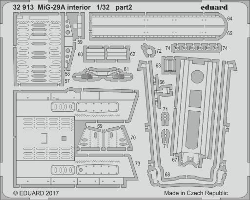 MiG-29A interiér 1/32  - 2