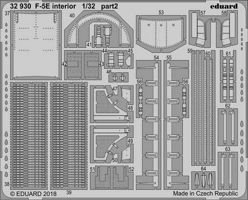 F-5E интерьер 1/32  - 2