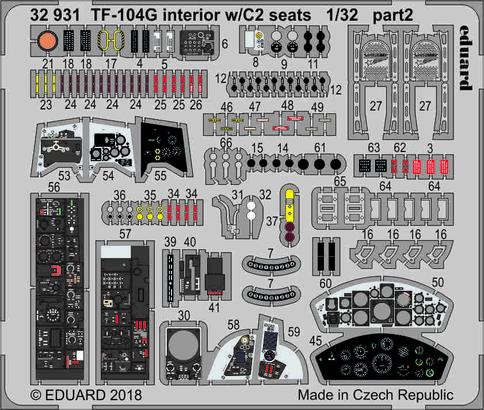 TF-104G interiér se sedačkami C2 1/32  - 2