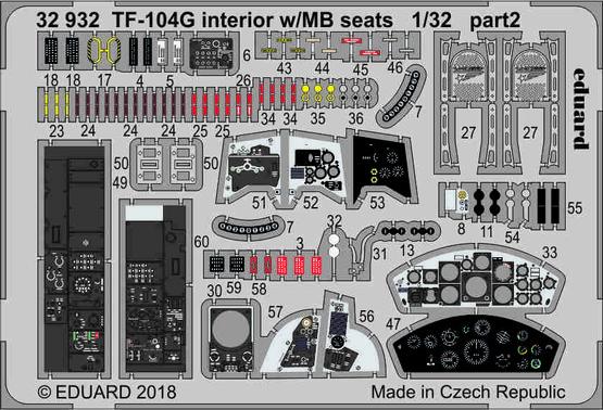 TF-104G interior w/MB seats 1/32  - 2