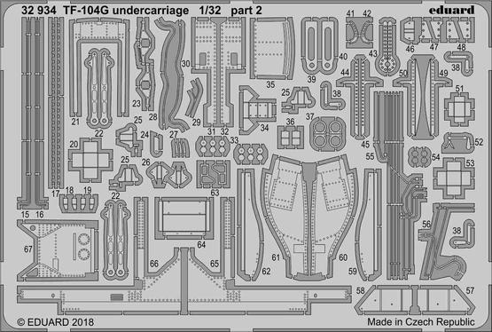 TF-104G undercarriage 1/32  - 2
