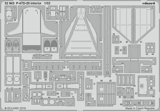 P-47D-20 interiér 1/32  - 2