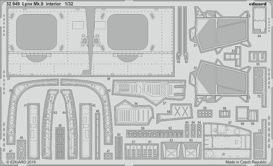 Lynx Mk.8 interiér 1/32  - 2