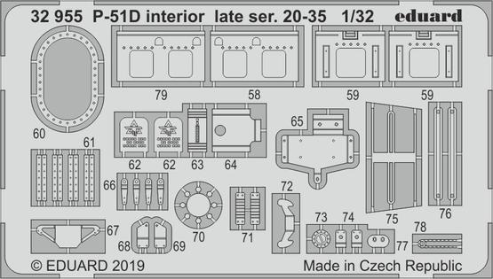 P-51D интерьер, поздние версии 20-35 1/32  - 2