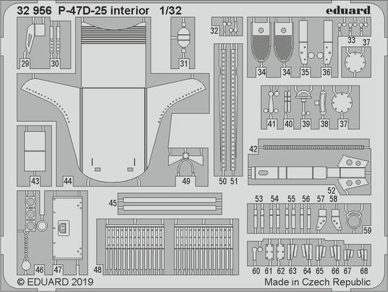 P-47D-25 интерьер 1/32  - 2