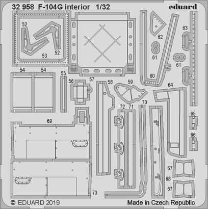F-104G interiér 1/32  - 2