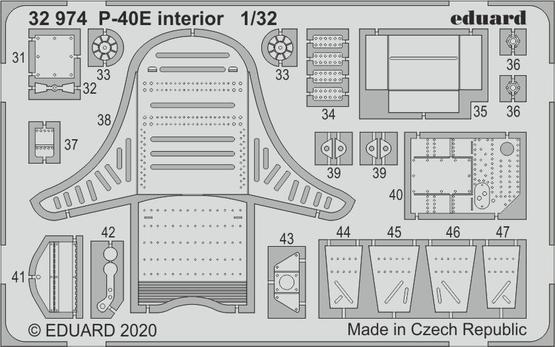 P-40E interior 1/32  - 2