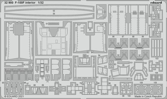 F-100F interior 1/32  - 2