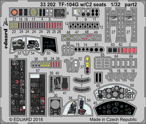 TF-104G с сидениями C2 1/32  - 2