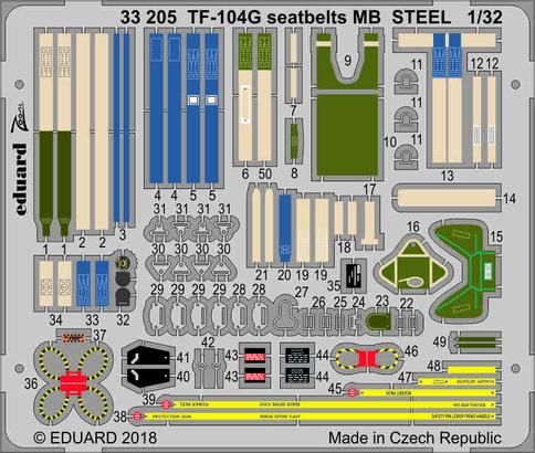 TF-104G シートベルト MB スチール製 1/32  - 2