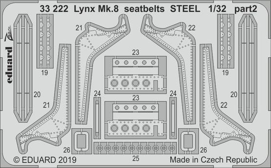Lynx Mk.8 seatbelts STEEL 1/32  - 2