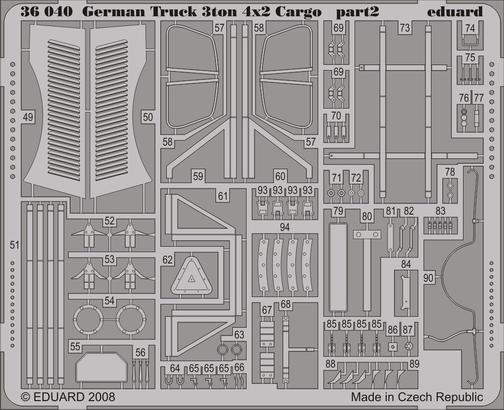 German Truck 3ton 4x2 Cargo 1/35  - 2