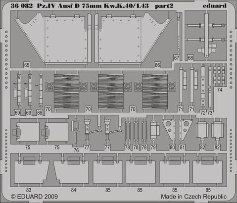 Pz.IV Ausf.D Kw.K.40/L43 75mm 1/35  - 2