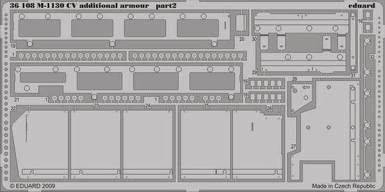 M-1130 CV additional armour 1/35  - 2