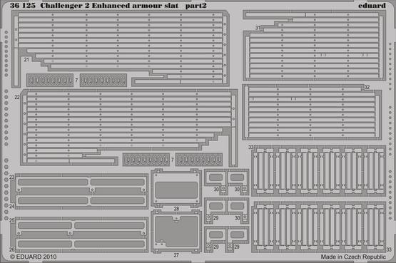 Challenger II Enhanced armour slat 1/35  - 2