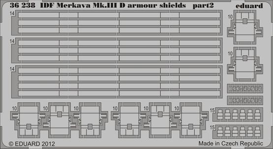 IDF Merkava Mk.IIID armour shields 1/35  - 2