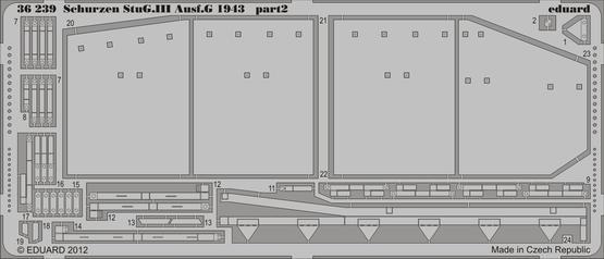Schürzen StuG.III Ausf.G 1943 1/35  - 2