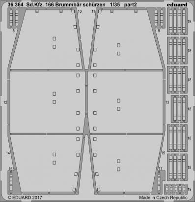 Sd.Kfz. 166 Brummbär schürzen 1/35  - 2
