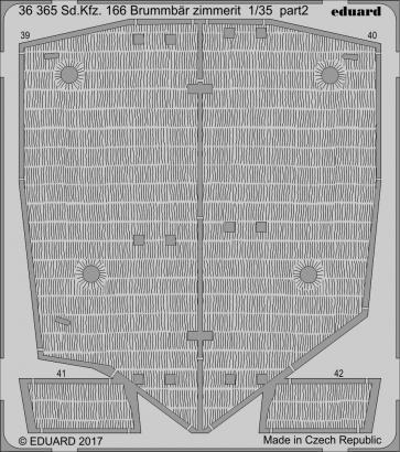 Sd.Kfz. 166 Brummbär zimmerit 1/35  - 2