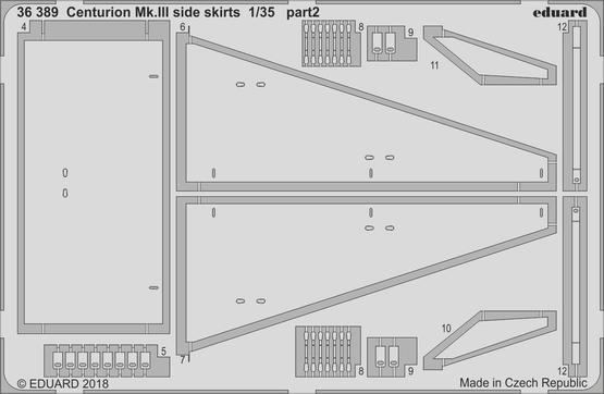 Centurion Mk.III side skirts 1/35  - 2