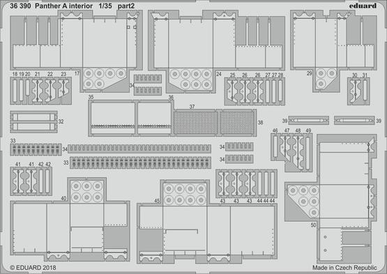 Panther A interiér 1/35  - 2