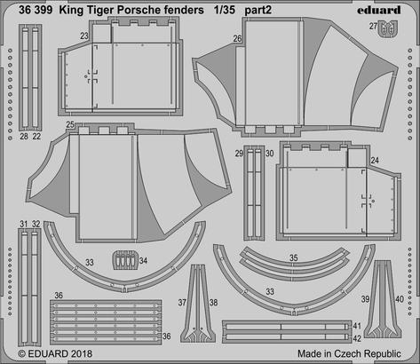 King Tiger Porsche fenders 1/35  - 2