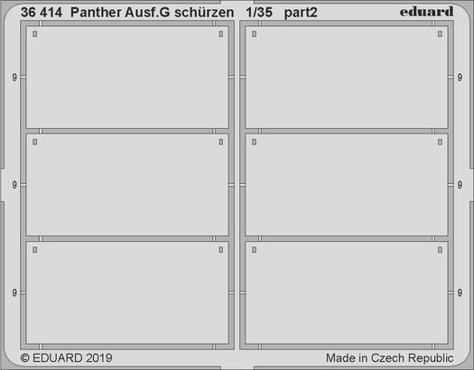 Panther Ausf.G schürzen 1/35  - 2