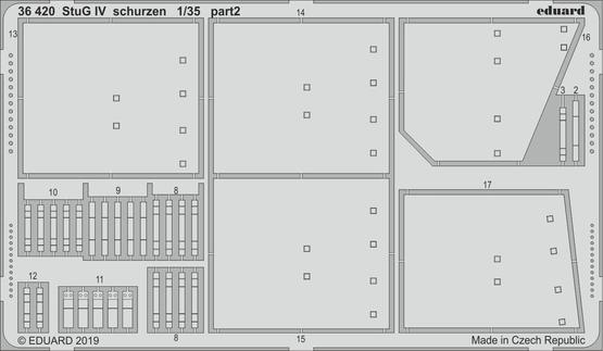 StuG IV schurzen 1/35  - 2