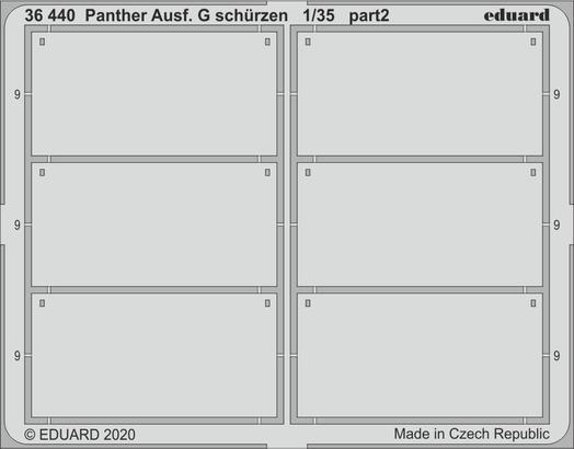 Panther Ausf. G schürzen 1/35  - 2