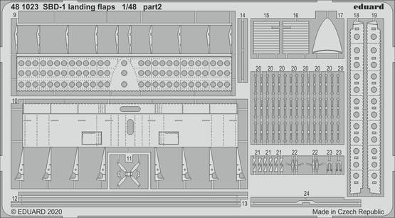 SBD-1 landing flaps 1/48  - 2