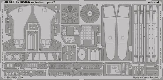 F-105D/G экстерьер 1/48  - 2