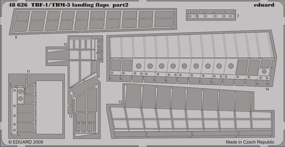 TBM-1/TBF-3 landing flaps 1/48  - 2