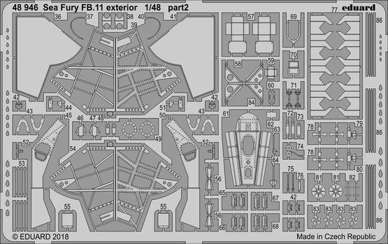 Sea Fury FB.11 exterior 1/48  - 2