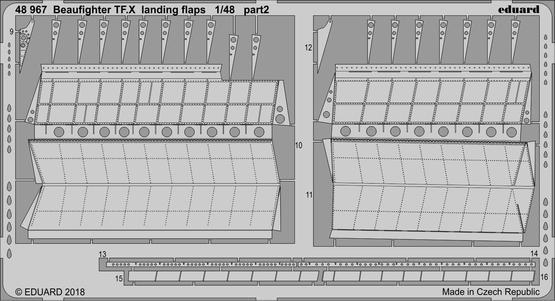Beaufighter TF.X landing flaps 1/48  - 2