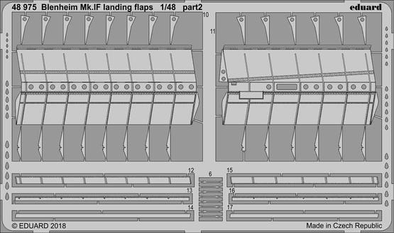 Blenheim Mk.IF landing flaps 1/48  - 2