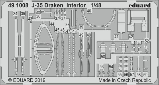J-35 Draken interior 1/48  - 2