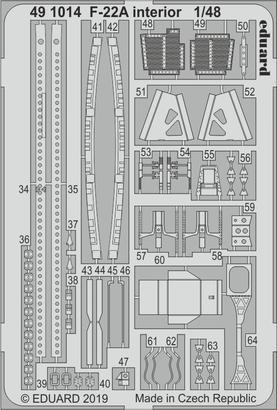 F-22A 内装 1/48  - 2