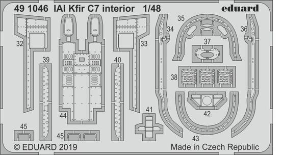 IAI Kfir C7 interiér 1/48  - 2