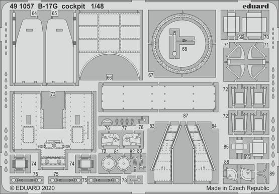 B-17G コクピット 1/48  - 2