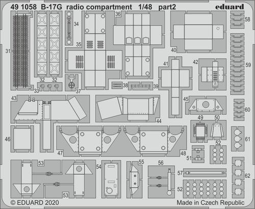 B-17G 無線室 1/48  - 2