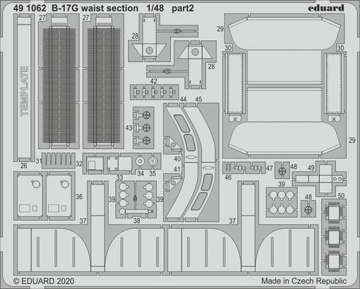 B-17G waist section 1/48  - 2