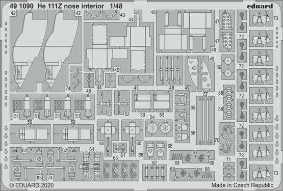 He 111Z nose interior 1/48  - 2