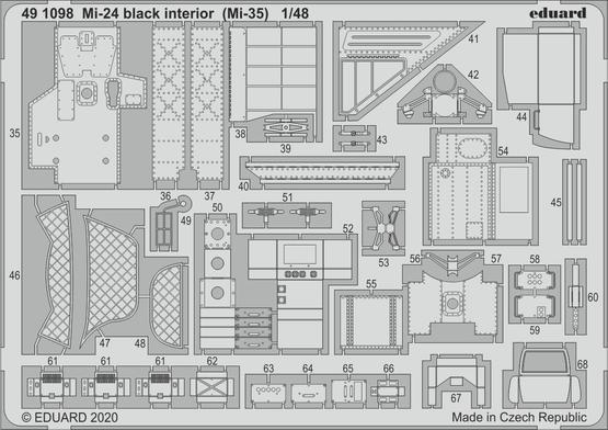 Mi-24 interior black (Mi-35) 1/48  - 2