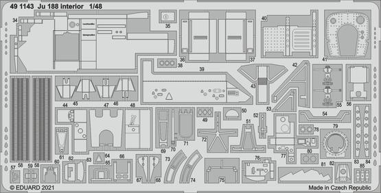 Ju 188 interior 1/48  - 2
