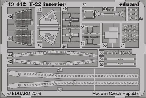 F-22 interior S.A. 1/48  - 2