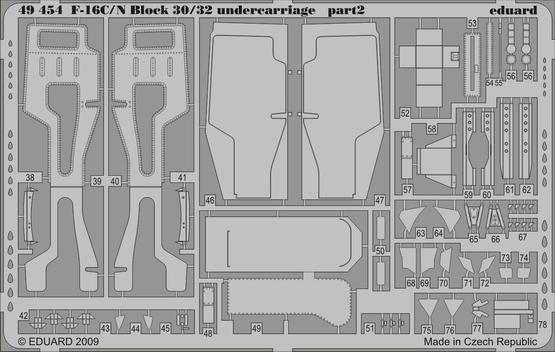 F-16C/N Block 30/32 undercarriage 1/48  - 2