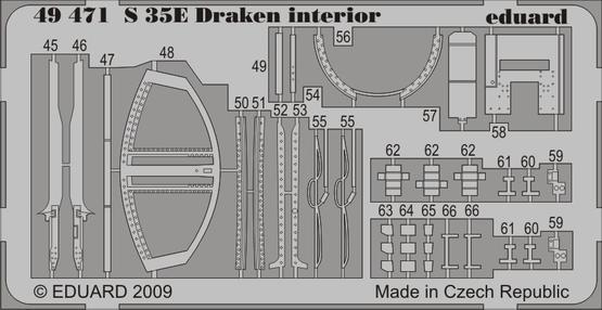S 35E Draken interior S.A. 1/48  - 2