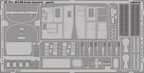B-24D front interior 1/48  - 2