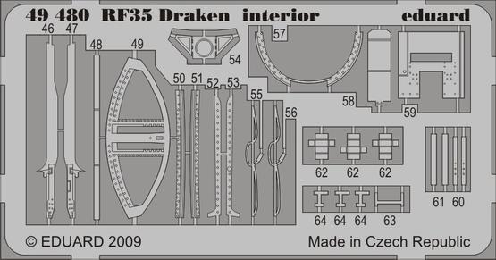 RF-35 Draken interior S.A. 1/48  - 2
