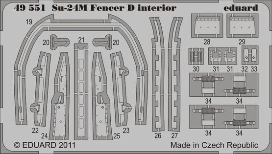 Su-24M Fencer D interior S.A. 1/48  - 2